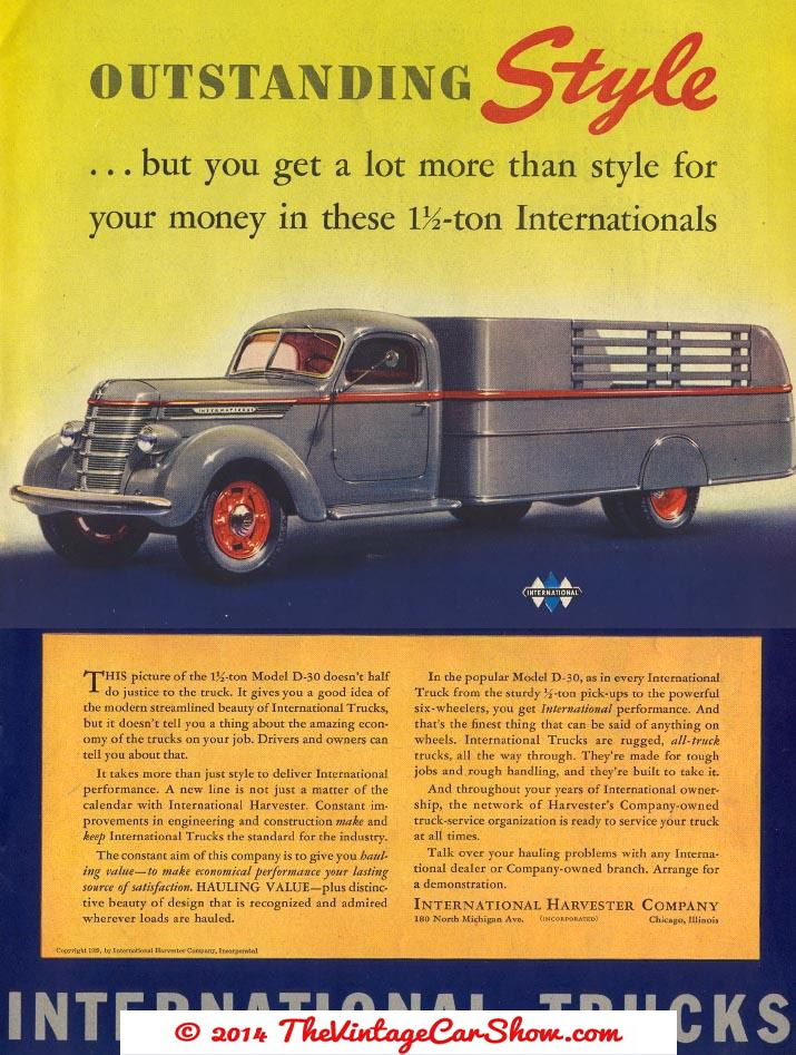 Truck Advertisments | The Vintage Car Show